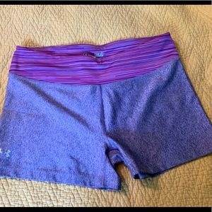 Under Armour workout shorts heather purple Medium